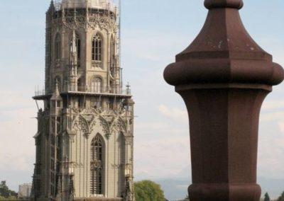 Der Münsterturm von der Dachterrasse aus